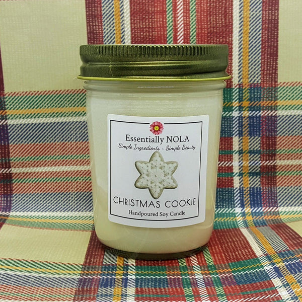 Christmas Cookie - Hand Poured Soy Candle - 8-oz