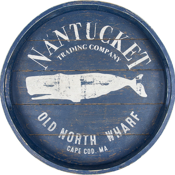 Nantucket Trading Company Decorative Round Tray - 15-in
