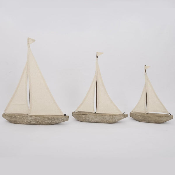 Driftwood and Canvas Sailboat - 3 Sizes