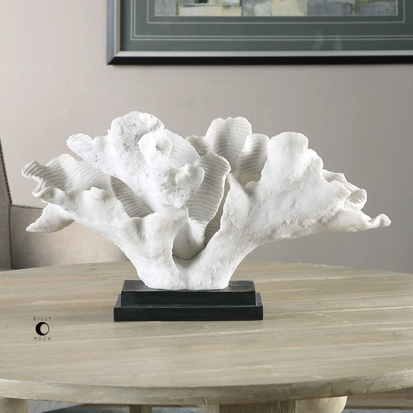 Textured Blade Coral Sculpture - 20-in