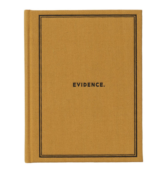 Evidence Notebook Journal - Cloth Bound Hard Cover
