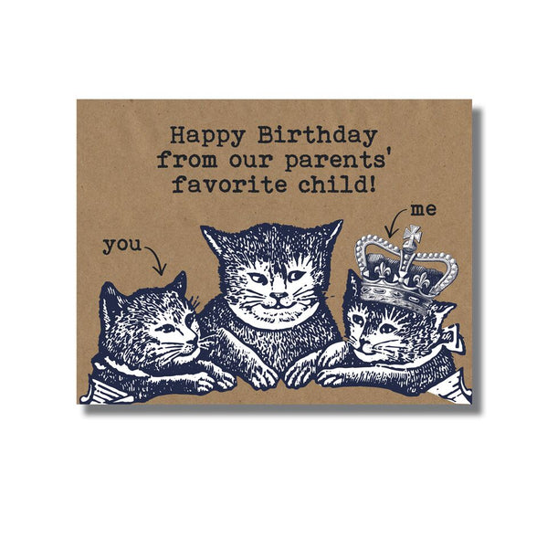 Favorite Child Birthday Card