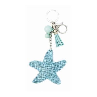 Under the Sea Diamond Seashore Key Chain