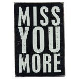 Miss You More - Mailable Wooden Greeting Card for Birthdays, Anniversaries, Weddings, and Special Occasions - Mellow Monkey
