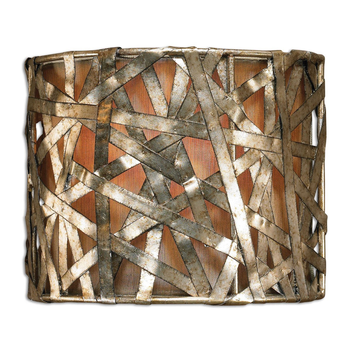 Alita Champagne Metal Sconce - 9-in