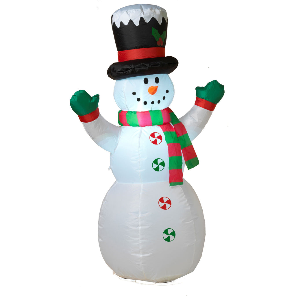 Outdoor Air Blown Inflatable Lighted Snowman 4 Foot Christmas ...