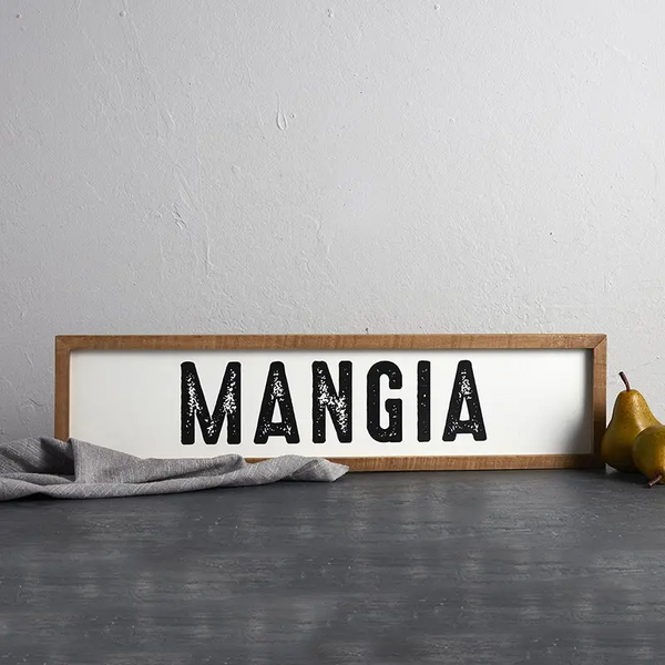 Mangia - Decorative Wood Frame Wall Sign