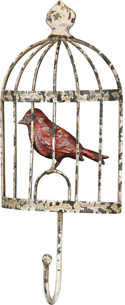 Metal Vintage Bird Cage Heavy Duty Wall Coat Hook - Mellow Monkey