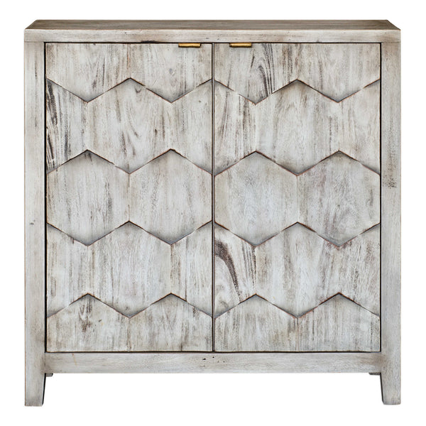 Catori Smoked Ivory Two Door Console Cabinet - 34-in