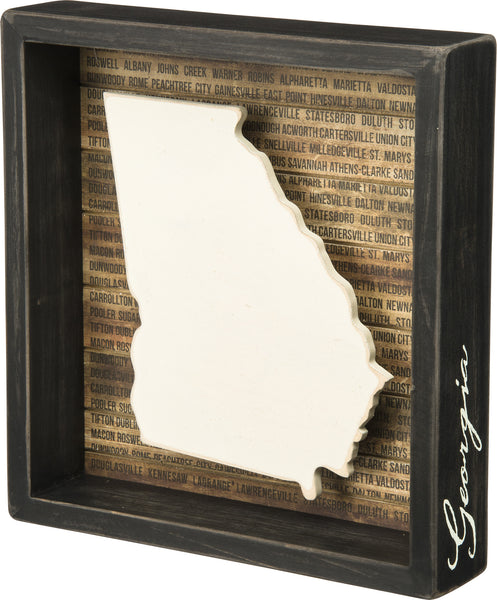 State Patriotic Pride Shadow Box Frame - Georgia - Mellow Monkey