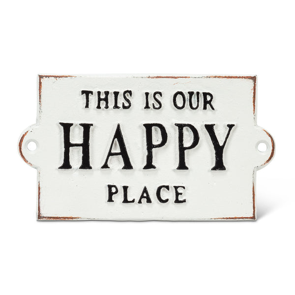This Is Our Happy Place - Cast Iron Wall Plaque 5-1/2-in