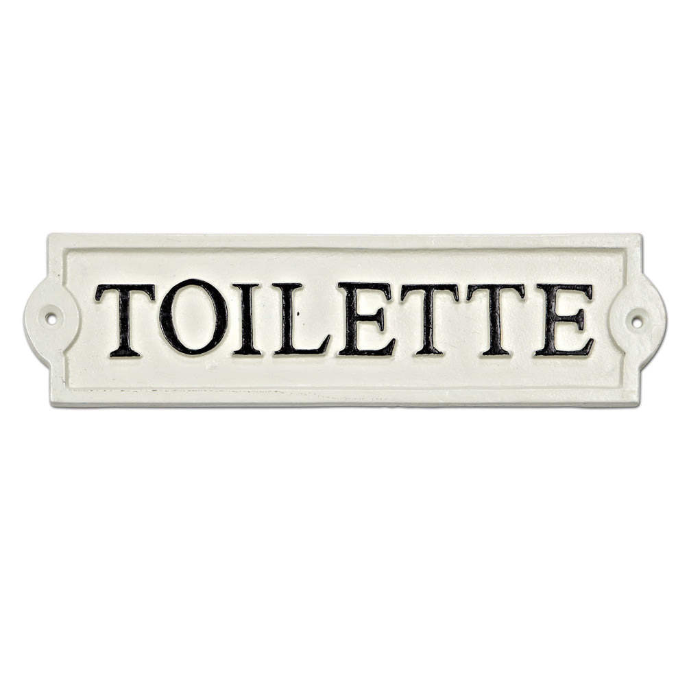 Toilette - Cast Iron Wall Plaque 8-1/2-in