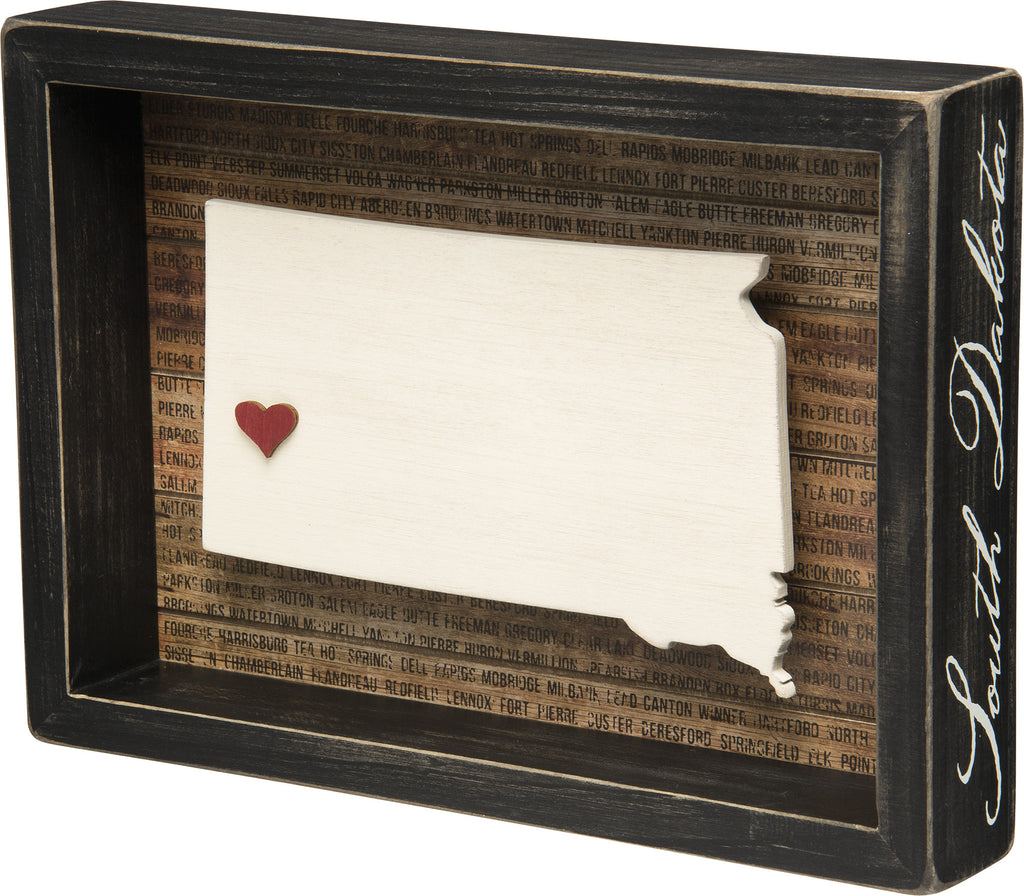 State Patriotic Pride Shadow Box Frame - South Dakota - Mellow Monkey