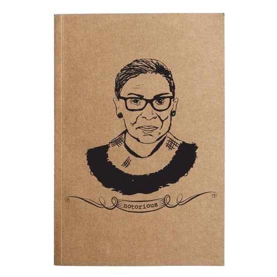 Notorious RBG Kraft Notebook With 60 Lined Sheets