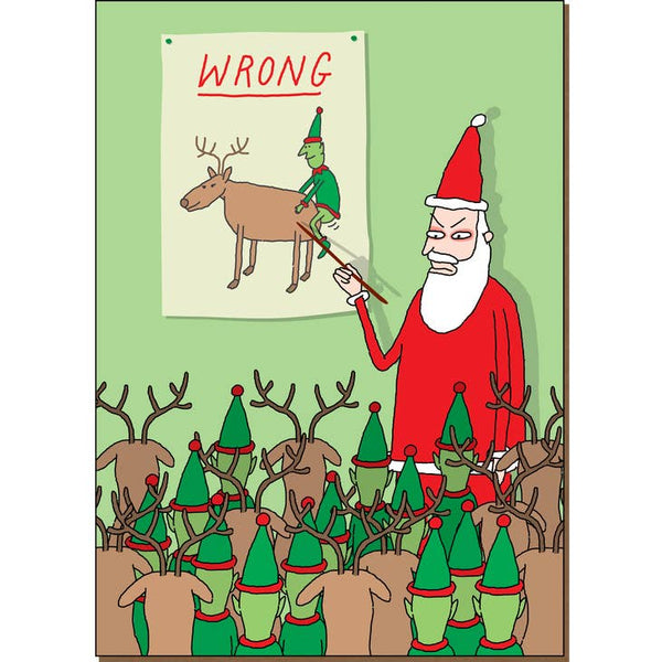 Wrong - Dark Holiday Christmas Card