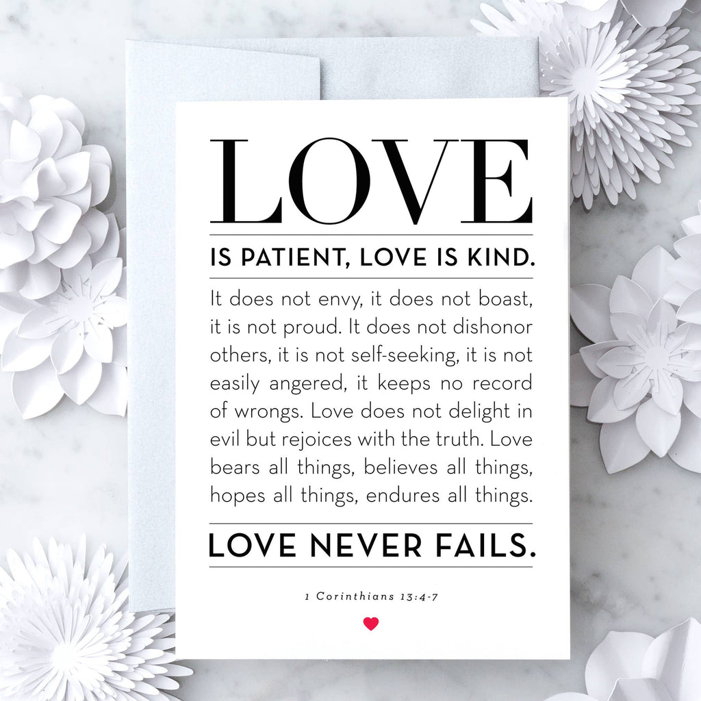 1 Corinthians 13: 4-7 - Greeting Card