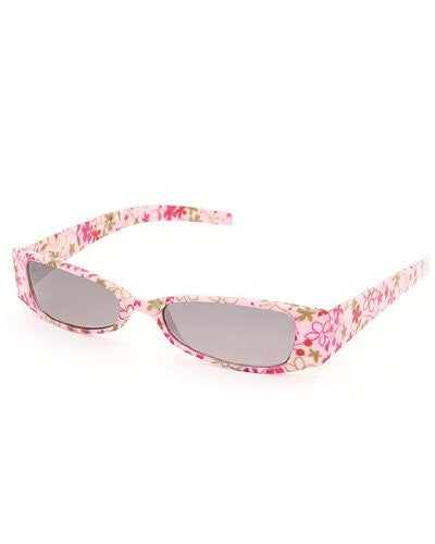 D&Y Retro Vintage Style Women's Sunglasses with Floral Print and Matching Carry Case (Pink) - Mellow Monkey