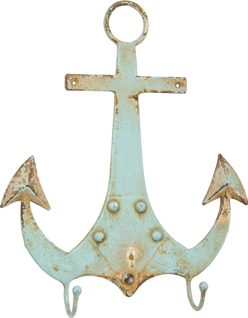 Aquamarine Anchor with Two Hooks - Mellow Monkey