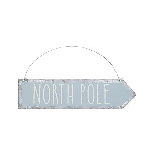 Christmas Tin Arrow Ornament / Sign (North Pole) - Mellow Monkey
