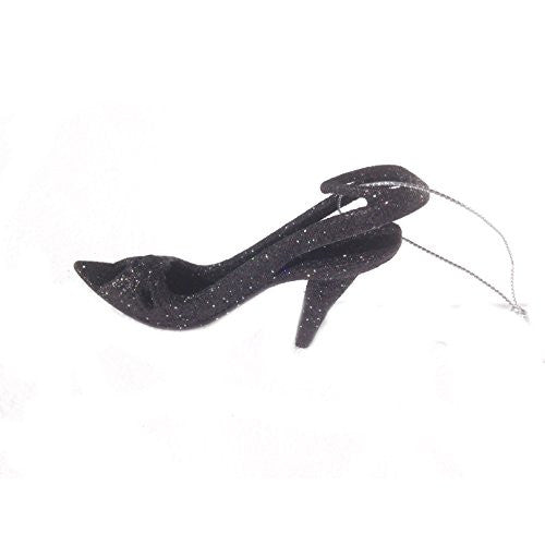 Fashion Pumps High Heel Decorative Holiday Ornament (Black) - Mellow Monkey