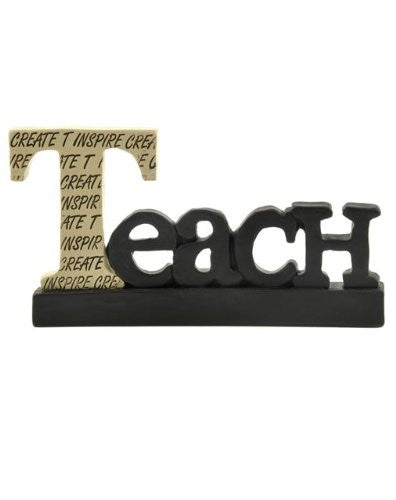 Decorative Inspirational Resin Hanging Word Sign (Teach) - Mellow Monkey