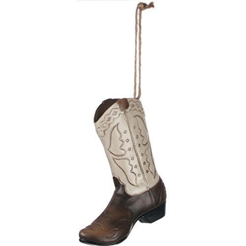 Western Cowboy Cowgirl Boot Ornament - 5-in - Mellow Monkey