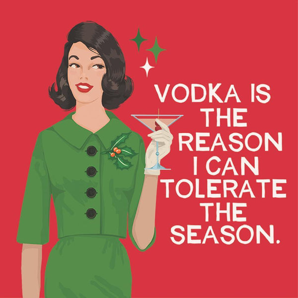 Vodka Is The Reason I Can Tolerate The Season - Cocktail Beverage Napkins 20-Ct