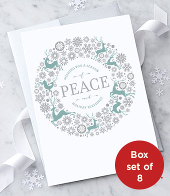 Peace and Holiday Blessings Boxed Set - Holiday Greeting Cards - Boxed Set of 8