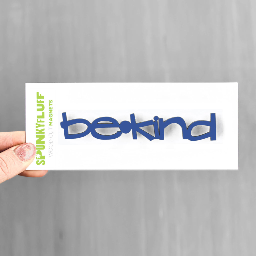 Be Kind - Word Magnet - Navy Blue