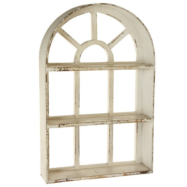 Ivy Cottage Wooden Window Shelf - 29-in White - Mellow Monkey