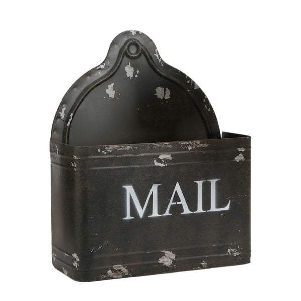 Vintage Black Metal Letter Mail Box | 12-in