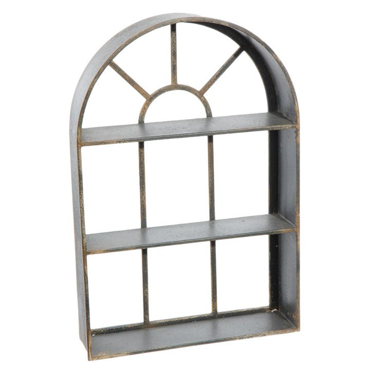 Garden Gate Metal Window Shelf - 29-in Black - Mellow Monkey
