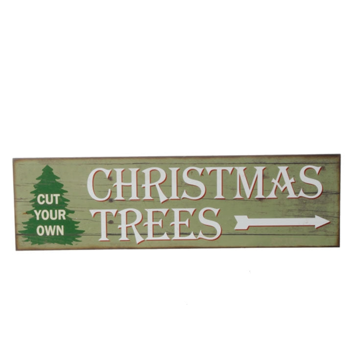 Cut Your Own Christmas Trees Vintage Sign - 25-in