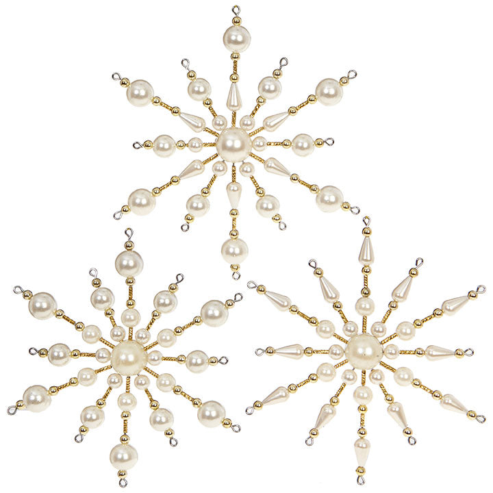 Pearl Starburst Ornament - 5-1/2-in