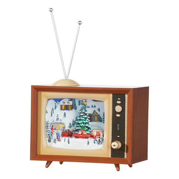 Animated Holiday Musical Retro Television TV 9-1/2-in