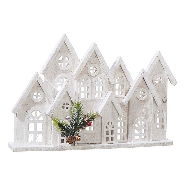 Cluster of Houses Lighted Holiday Figure - 11-in