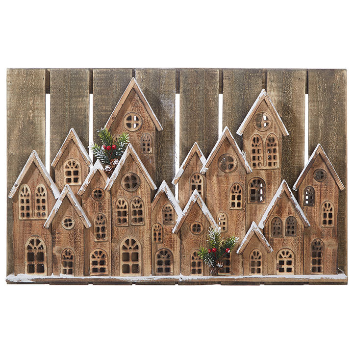 Old Fashioned Village of Holiday Houses - Wall Decor - 30-1/2-in