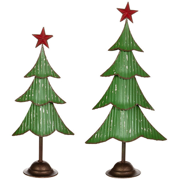Vintage Metal Freestanding Tree with Star