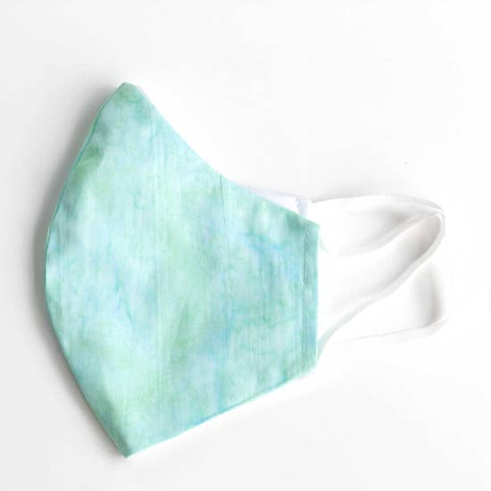 Facemasks LA - Face Mask with Filter - Blue Ice Tie Dye