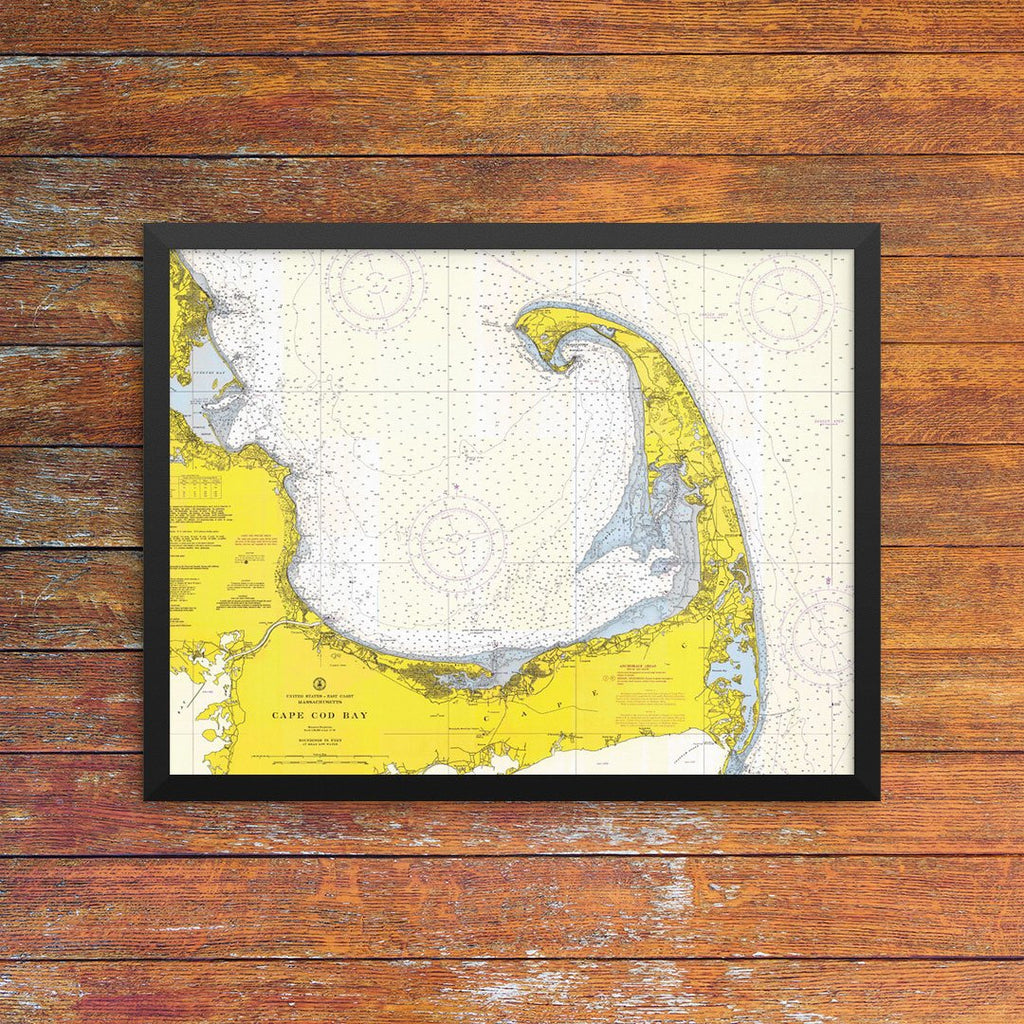 Cape Cod Bay Nautical Chart Greeting Card