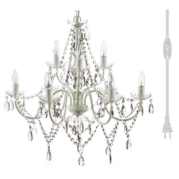 Chandelier - 9 Light - Crystal Clear
