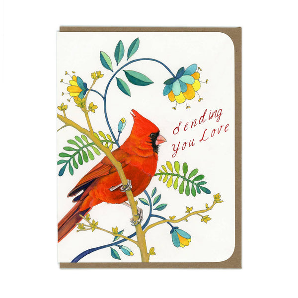 Sending Love Cardinal Greeting Card