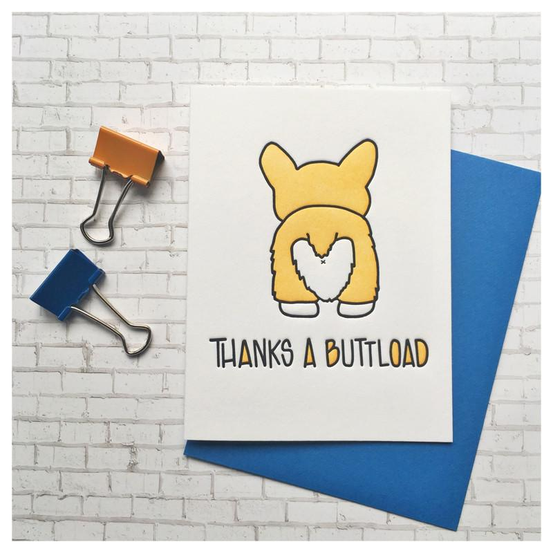 Thanks A Buttload - Thank You Greeting Card