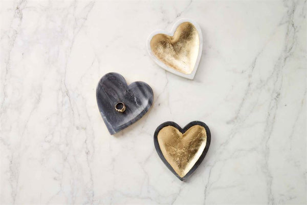 Marble Heart Tray - 5-in