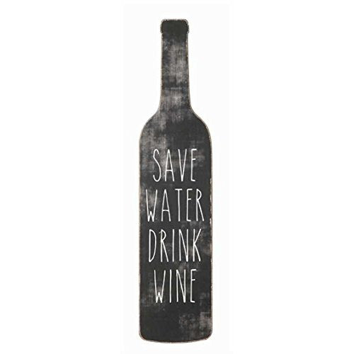 Save Water Drink Wine - Wood Wall Decor 20-in - Mellow Monkey