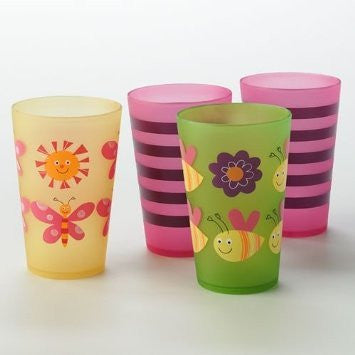 Jumping Beans 4-pc. Butterfly Tumbler Set - Mellow Monkey