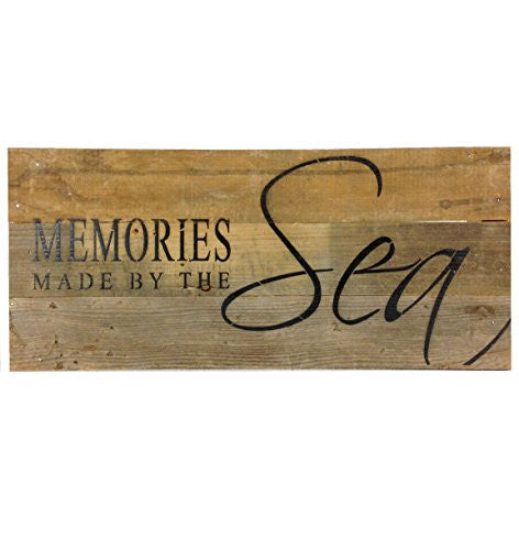 Memories Made By The Sea - Reclaimed Wood Art Sign - 14-in x 6-in - Mellow Monkey