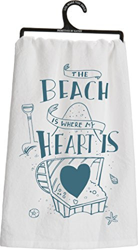 The Beach Is Where My Heart Is Tea Towel - Mellow Monkey