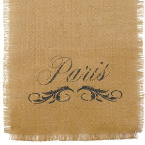 36 in. Paris Burlap Runner (13-in x 36-in) - Mellow Monkey