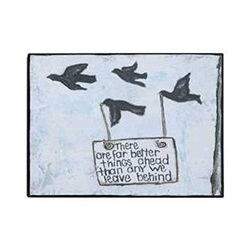 Gallery Black Birds Wall Decor 7-3/4-in L X 5-3/4- in H (There are far better things ahead than any we leave behind) - Mellow Monkey